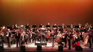Stock Video Footage of Colorful stage with the orchestra