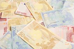 euro bills for investment - stock photo