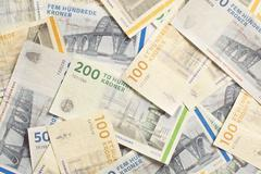danish foreign currency - stock photo