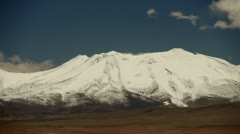 Andes Mountains snow covered mountain Stock Footage