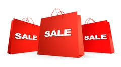 Three sale bags Stock Photos