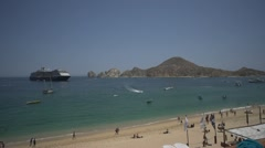 Stock Video Footage of Cabo San Lucas Baja Mexico ships with timelapse