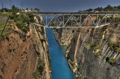 Channel of corinth Stock Photos