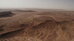 Helicopter aerial shot of desert North Africa Stock Footage