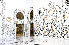 sheikh zayed mosque, abu dhabi, - stock photo