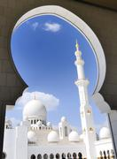 heikh zayed mosque in abu dhabi, - stock photo