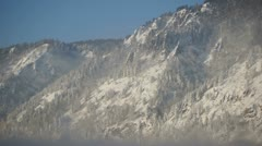Wonderful Mountains In Winter Day 04 Stock Footage