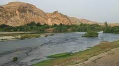 River Tigris near Hasankeif, Turkey Stock Footage