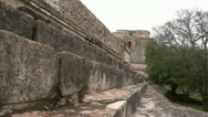 Mayan temple ruins dolly slide up stairs sony super 35mm Stock Footage