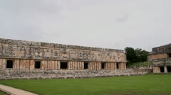 Mayan temple ruins full pane shot sony super 35mm Stock Footage