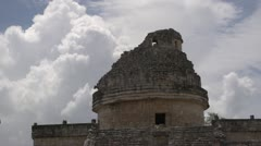 Mayan temple ruins with clouds timelapse sony super 35mm Stock Footage