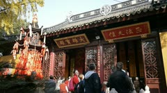 Hanshan Temple, a Buddhist temple in Suzhou, China Stock Footage