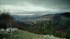 Clouds over the valley - stock footage