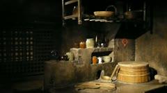 Old Shanghai wax museum inside oriental pearl tower Stock Footage