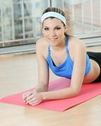 Sportive woman Stock Photos