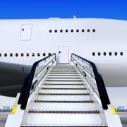 staircases and plane - stock illustration
