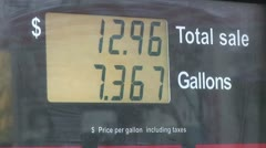 Close Up of A Fuel Pump Screen As The Price Goes Up Stock Footage
