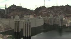 Hoover Dam On the Arizona Nevada Border Stock Footage