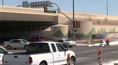 Fast Motion View Of Traffic At A Freeway Intersection Stock Footage