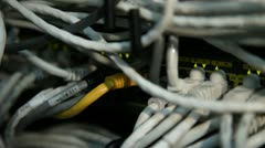 Electric wires in the server 5 Stock Footage