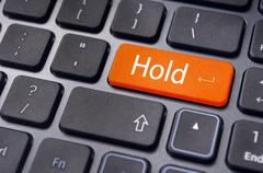 hold concepts in online stock trading - stock illustration