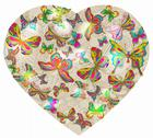 Beautiful valentine's background with heart and butterfly Stock Illustration
