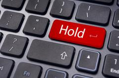 Stock Illustration of hold concepts in online stock trading