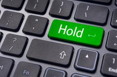 Hold concepts in online stock trading Stock Illustration