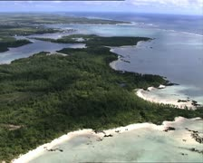 MAURITIUS aerial view of Deer Island 1 Stock Footage