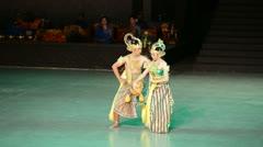 Ramayana Ballet at at Prambanan, Indonesia Stock Footage