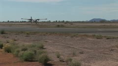 View of Prop Plane Taking Off Stock Footage