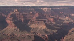 Panoramic View of the Rim Of the Grand Canyon Stock Footage