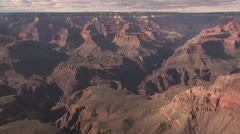 Looking Down Into the Grand Canyon Stock Footage