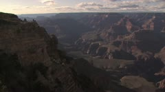 View of the Grand Canyon Several People In the Distance Stock Footage
