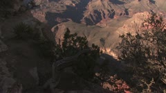 Looking Into the Grand Canyon 2 Stock Footage