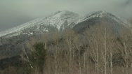 Snow Covered Mountain with A Cloudy Sky Backdrop 2 Stock Footage