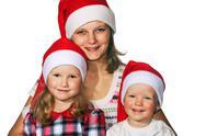 Christmas family Stock Photos