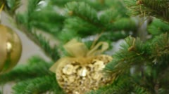 Christmas tree decorations - stock footage