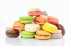 Stock Photo of tasted macaroons
