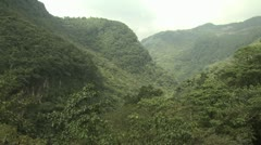 Lush Green Mountain sides of the Amazon Rain Forest - stock footage
