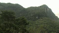 Lush Green Mountain sides of the Amazon Rain Forest 2 - stock footage
