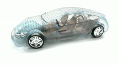 Car design, wire model. My own design. - stock footage