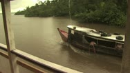 Stock Video Footage of Traditional Boat On the Amazon River