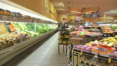 Fresh Produce at Grocery Store - stock footage