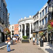 Rodeo drive, beverly hills, united states Stock Photos