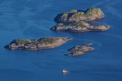 Stock Photo of rocky islands in norwegian sea