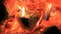Damped embers close Stock Footage