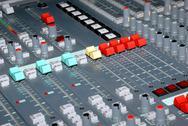 Sound mixing console Stock Photos