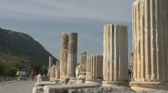 History & culture, Ephesus ruins, columns, med long shot Stock Footage