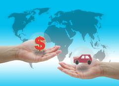 buying car - stock illustration